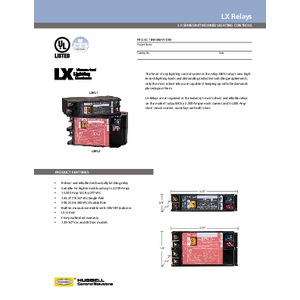 LX Relays Specification Sheet