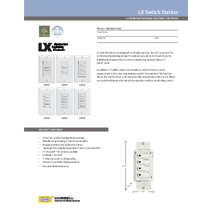 LX Networked Switch Stations Specification Sheet
