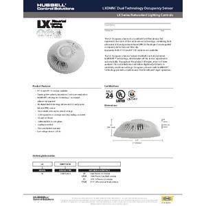 LX OMNI DT Occupancy Sensor Specification Sheet