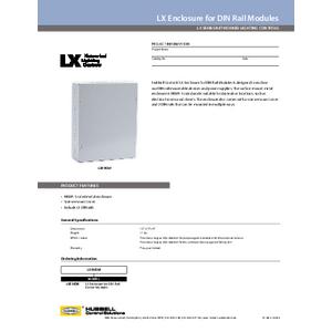 LX Enclosure for DIN Rail Modules