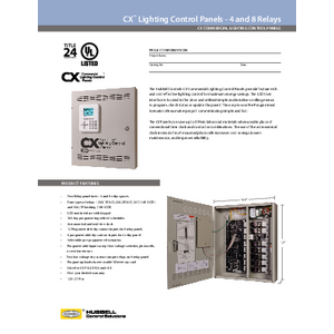 CX 4 and 8 Relay Panel Specification Sheet