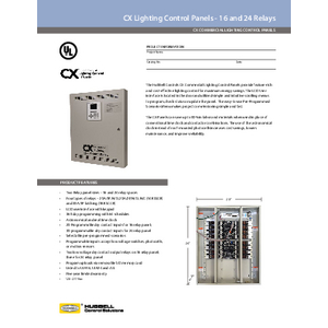 CX 16 and 24 Relay Panel Specification Sheet