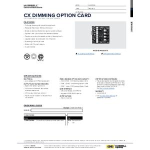 CX Dimming Card Spec Sheet