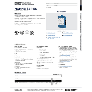 NX Network Bridge Module Spec Sheet