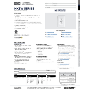 NX Specialty Switches Specification Sheet