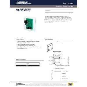 NX Occupancy Output Specification Sheet