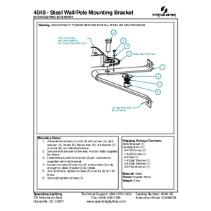 4040 - Steel Wall/Pole Mounting Bracket