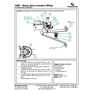 4090 - Heavy-duty crossarm fitting