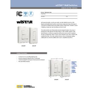 wiSTAR Rocker Wall Switch Spec Sheet