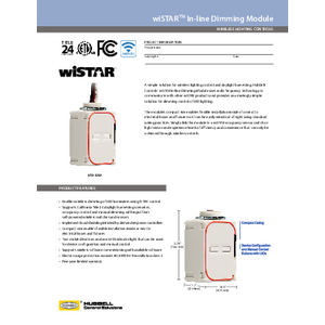 wiSTAR™ In-line Dimming Module Spec Sheet