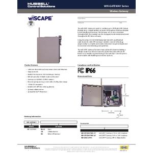 wiSCAPE Gateway Specification Sheet