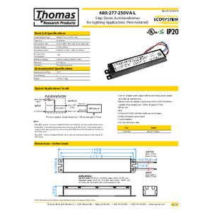 480-277-250VA-L Specification Sheet