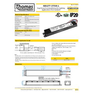 480V:277-375VA-L Spec Sheet