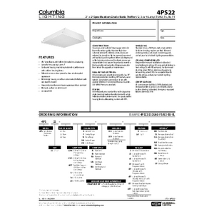 4PS22 Specification Sheet