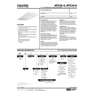 4PS24-4, 4PS24-6 Specification Sheet
