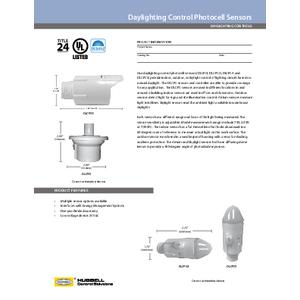 Daylighting Controls Spec Sheet