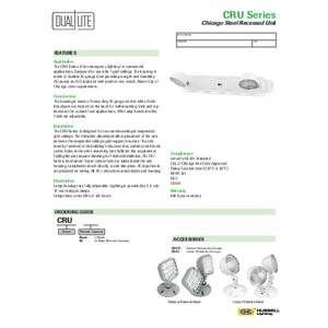 CRU Specification Sheet