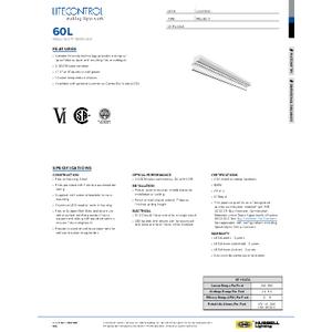 60L Spec Sheet