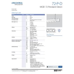 72-P-D Spec Sheets