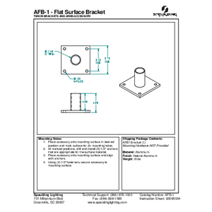 AFB-1 - Flat Surface Bracket