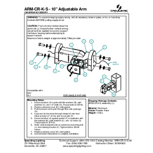 "ARM-CR-K-S - 10"" Adjustable Arm"
