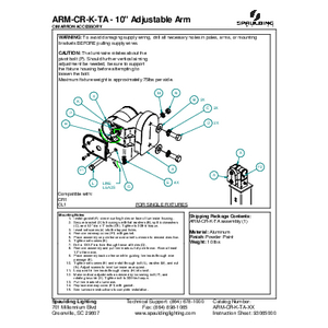 "ARM-CR-K-TA - 10"" Adjustable Arm"