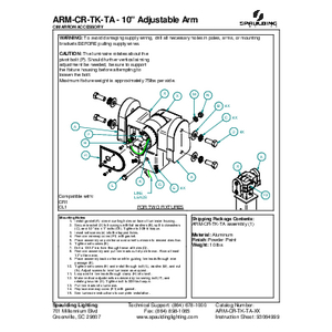 "ARM-CR-TK-TA - 10"" Adjustable Arm"