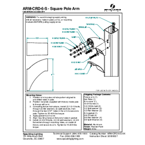 ARM-CRD-6-S - Square Pole Arm
