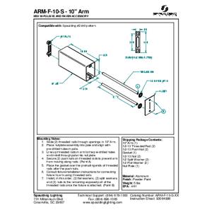 """ARM-F-10-S - 10"""" Arm"""