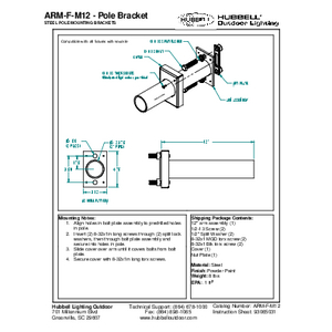 ARM-F-M12 - Pole Bracket