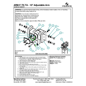 "ARM-F-TK-TA - 10"" Adjustable Arm"