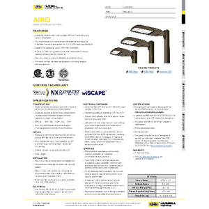 Airo Area/Site Specification Sheet
