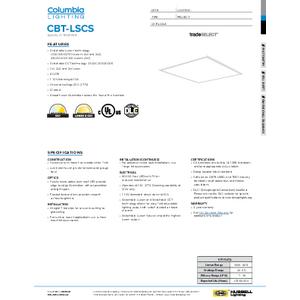 CBT LSCS Specification Sheet