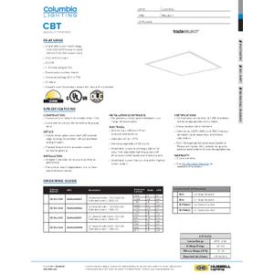 CBT Specification Sheet