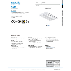 CLB Specification Sheet