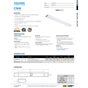CNW Specification Sheet