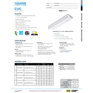 CUC Specification Sheet