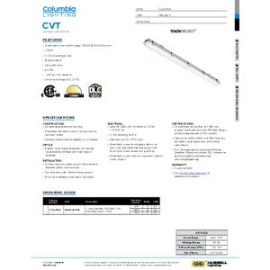 CVT Specification Sheet