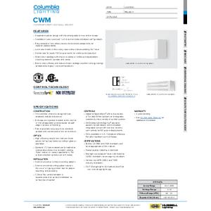 CWM Specification Sheet