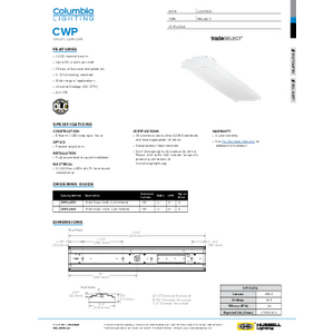 CWP Specification Sheet