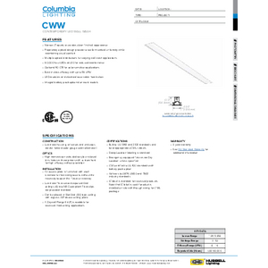 CWW Specification Sheet