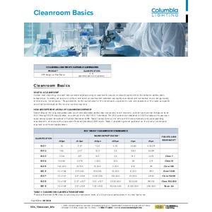 Columbia Cleanroom Basics