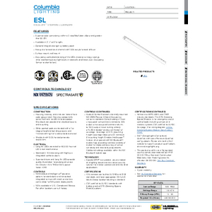 Escalate Specification Sheet