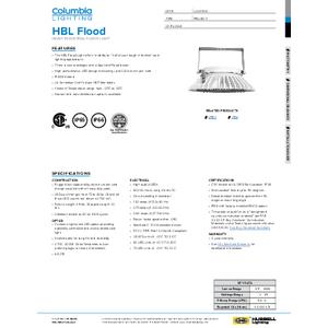 HBL Flood Specification Sheet