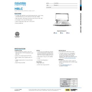HBLC Specification Sheet