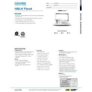 HBLH Flood Specification Sheet