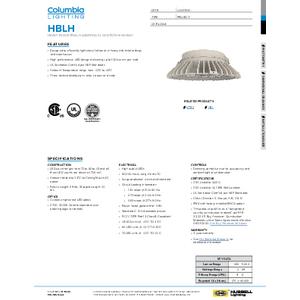 HBLH Specification Sheet