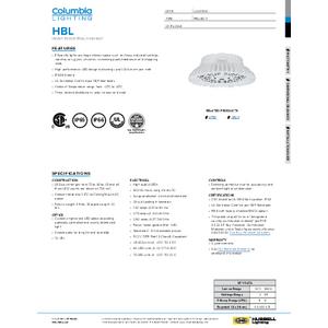 HBL Specification Sheet