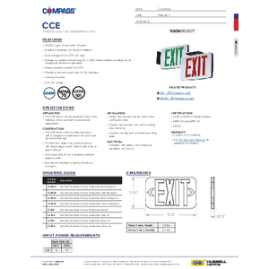 CCE Series Specification Sheet