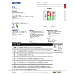 CE Series Specification Sheet